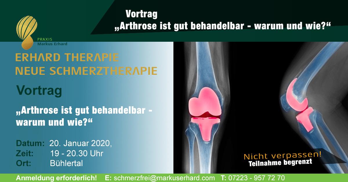 Arthrose ist gut behandelbar | Warum & wie?| Vortrag | 2. Halbjahr 2020